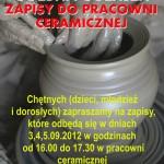 Zapisy do pracowni ceramicznej