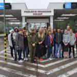 Wizyta uczniów w przejściu granicznym w Gołdapi