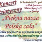 Zapraszają na koncert pieśni patriotycznych w wykonaniu przedszkolaków