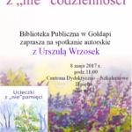 8 maja spotkanie autorskie Urszuli Wrzosek