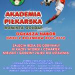 Dołącz do najlepszych – nabór do Akademii Piłkarskiej