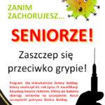 Z Urzędu Miejskiego: Seniorze! Zaszczep się przeciwko grypie