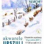 Zima w zimowej szacie w akwarelach Urszuli Wrzosek
