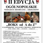 II edycja Ogólnopolskiego Seminarium z Boksu w Gołdapi