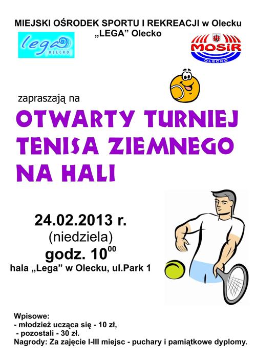 OTWARTY turniej tenisa na hali-plakat