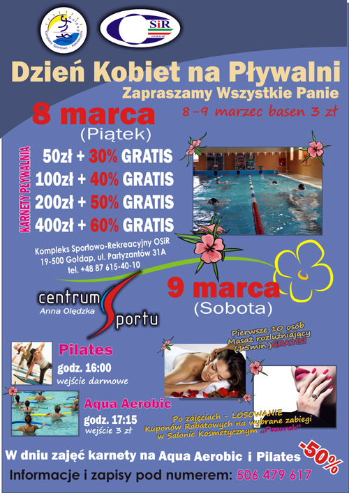 dzien kobiet plakat centrum sportu 3