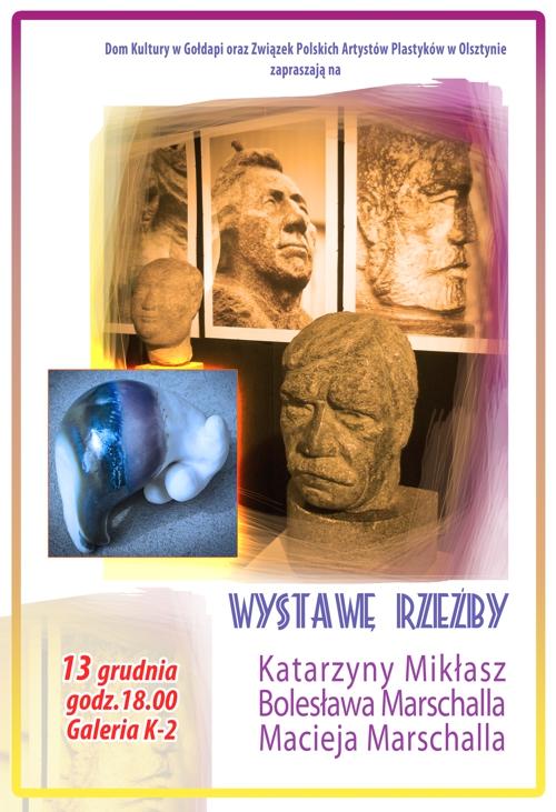 plakat rzeźba