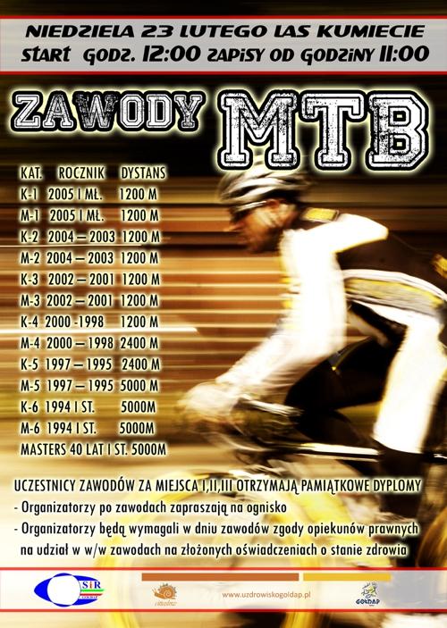 Plakat liga MTB