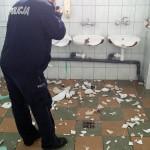 KPP Gołdap-zniszczone sanitariaty