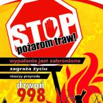Stop pożarom traw - Plakat A3