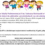 Nabór dzieci do oddziałów przedszkolnych Szkoły Podstawowej nr 3