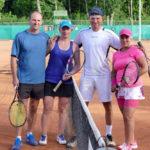 Popławscy na turnieju tenisowym w Giżycku