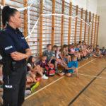 Policjanci rozmawiali o bezpiecznych wakacjach