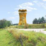Dwie wieże w Parku Krajobrazowym Puszczy Rominckiej
