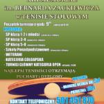 XIII Memoriał im. Bernarda Zackiewicza w Tenisie Stołowym