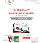 XV Regionalny Konkurs Recytatorski im. Wacława Klejmonta