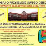 Piątka ogłasza nabór na nowy rok szkolny