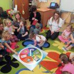 Dzieci wraz z rodzicami brali udział w zajęciach
