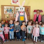 Zajączek Wielkanocny odwiedził trzylatków