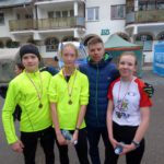Zawodnicy powiatu gołdapskiego na czwartkowych biegach w Węgorzewie