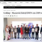 Inni Napisali: Gołdap – Mazurski Zdrój EDEN-em 2019 roku