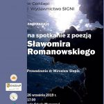 Zapraszamy na spotkanie z poezją Sławomira Romanowskiego