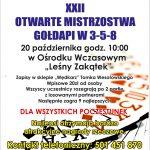 Kolejne Otwarte Mistrzostwa Gołdapi w 3-5-8 już 20 października