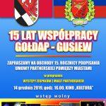 Zapraszają na koncert z okazji 15-lecia współpracy Gołdapi zGusiewem