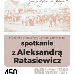 Zapraszamy na spotkanie z Aleksandrą Ratasiewicz