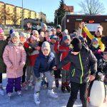 Wesołe pingwinki na lodowisku