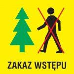 Komunikat. Zakaz wstępu do lasu