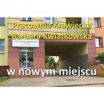 Nowa lokalizacja Pracowni Krawieckiej Barbara Kwiatkowska