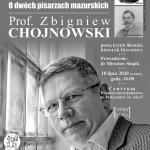 Zapraszamy na spotkanie z prof. Zbigniewem Chojnowskim
