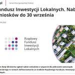Fundusz Inwestycji Lokalnych. Nabór wniosków do 30 września