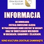 Zawieszenie działalności DK przedłużone