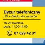 Tydzień dla seniorów – dyżur telefoniczny Urzędu Skarbowego w Olecku