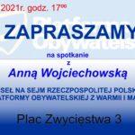 Zapraszają na spotkanie z poseł Anną Wojciechowską