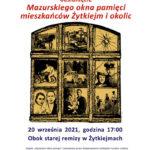 Mazurskie okno pamięci w Żytkiejmach