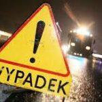 Rozbite auto w Jabłońskich